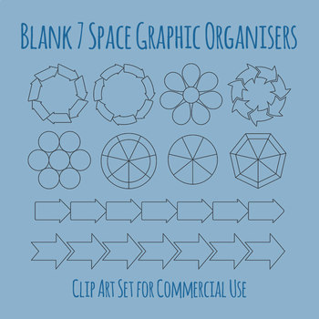 Blank Days of the Week Diagram / Graphic Organiser Clip Art Commercial Use