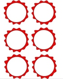Blank Decorative Red and Green Circles (Printables)
