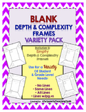 Depth and Complexity Blank Frames - Variety Pack of 4