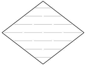 Blank Diamante Poem Frame