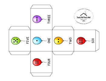 Blank Dice Template PLUS Numeral, Dot & Tally Balloon Dice!