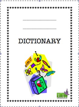 Blank Dictionary For Any Subject By Evil Math Wizard Tpt