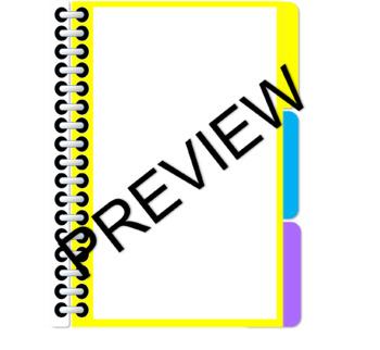 Blank Digital Interactive Notebook- 3 Tabs