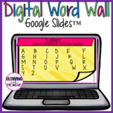 Blank Digital Word Wall for Google Slides Share and Go