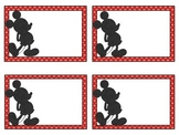 Blank Mickey Inspired Classroom Labels