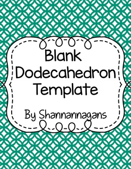 Blank Dodecahedron Project Template - Large and Small