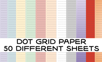 Blank Dot Grid Paper 50 Different Sheets Printable