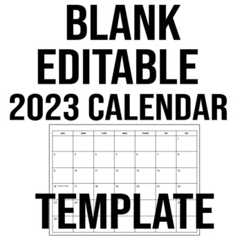 Blank/Editable 2019 Calendar Template - Google Slides