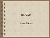 Blank Editable Cornell Notes PPT