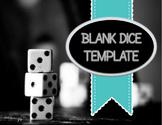 Blank Editable Dice