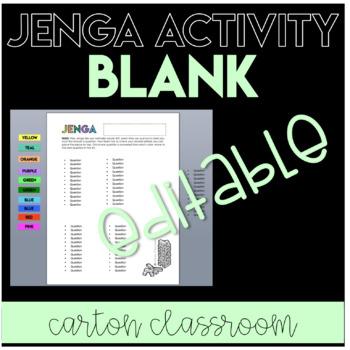 Blank Editable JENGA Activity