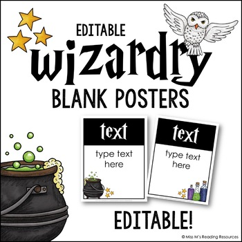 Blank Editable Posters {Wizardry Theme}