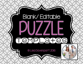 Blank/ Editable PUZZLE TEMPLATES