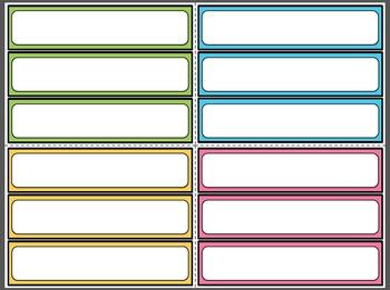 Blank Editable Strategy Cards