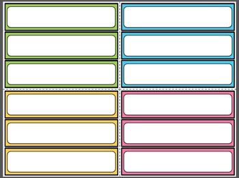 Blank Editable Strategy Cards