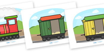 Blank Editable Train and Carriages
