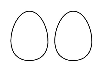 Blank Easter Egg Template (Half Sheet to save paper!)