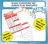 Blank Elementary Art Lesson Plan Templates