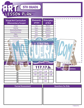 Blank Elementary Art Lesson Plan Templates