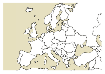 Blank European Map by Thinking Like A Historian | TpT