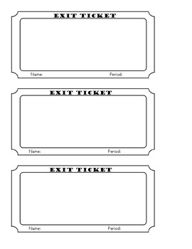 image regarding Printable Exit Tickets known as Blank Exit Ticket Worksheets Instruction Components TpT