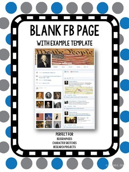 Blank Facebook Page (with example template)