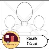 Blank Face Clip Art {CU OK}