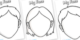 Blank Face Templates With Features