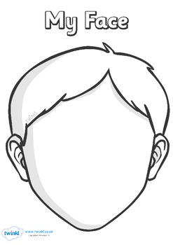 Blank Face Templates with Face Parts by Twinkl Printable