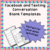Blank Facebook Page and Texting Conversation