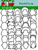 Blank Faces Clipart / Graphics