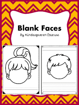 Blank Faces - Writing and Drawing
