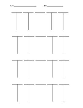 Blank Factoring T-Chart