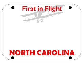 Blank Fake NC License Plate