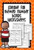 Editable Fall Themed Number Bond Worksheets