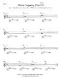Band Blank Fingering Chart #2