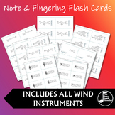 Blank Fingering and Note Name Flashcards