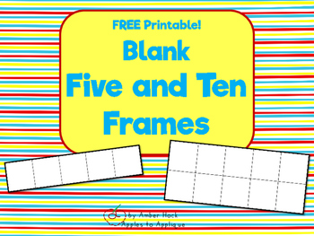 Blank Five and Ten Frame Printable