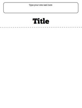 Blank Flap Book Template