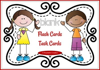 Blank Flash Cards - Task Cards {Freebie}