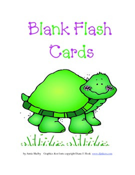 Blank Flash Cards for All Subjects