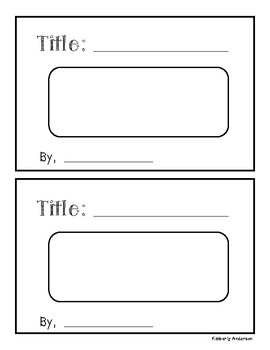Blank Flip Book (Students Make): Writing / Observation / Reflection Book
