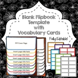Blank Flip Book Template, Generic, All Year, Editable, Vocab, Any Subject