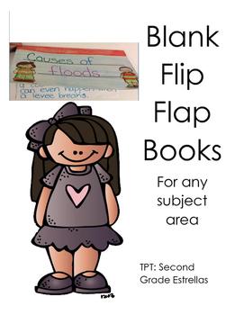 Blank Flip Flap Book for an subject area