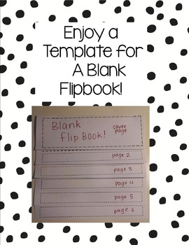 blank flipbook template by mme suzanne teachers pay teachers