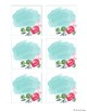 Blank Floral Watercolor Labels