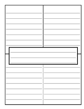 Blank Four Square Template