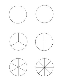 photograph relating to Fraction Circles Printable referred to as Blank Portion Circles Worksheets Schooling Materials TpT