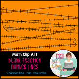Blank Fraction Number Lines Clip Art