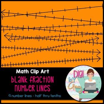 Blank Fraction Number Lines Clip Art